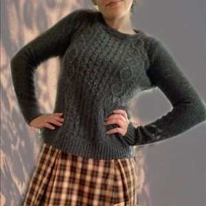 j crew wool cable knit sweater